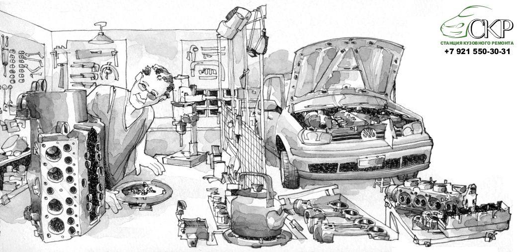 Выбор запчастей для ремонта авто в СПб