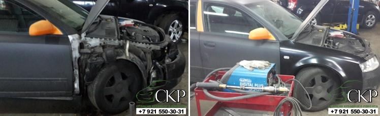 Кузовной ремонт Ауди А4 (Audi A4) после аварии