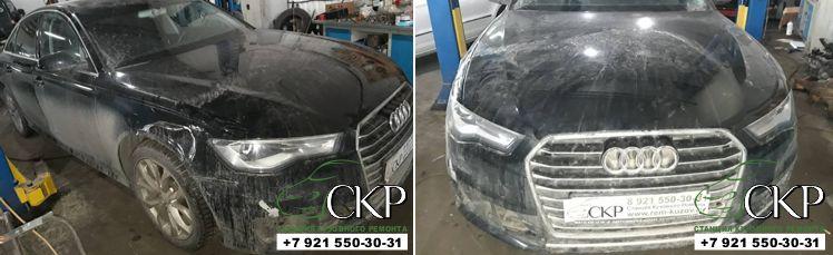 Восстановление кузова Ауди А6 (С7) в СПб