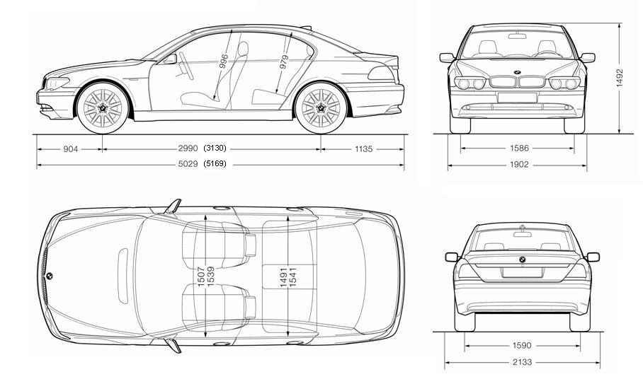 Кузовной ремонт БМВ 7(BMW 7) в СПб