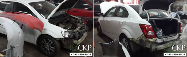 Восстановление кузова Шевроле Авео (Chevrolet Aveo)