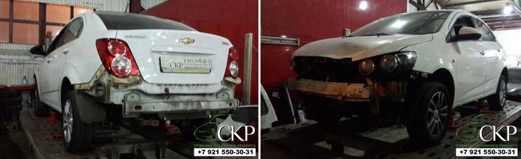 Восстановление кузова Шевроле Авео (Chevrolet Aveo