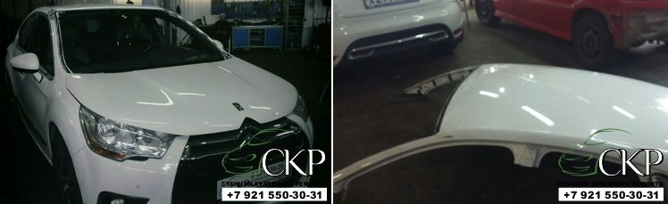 Кузовной ремонт по замене крыши Ситроен DS4 в Спб