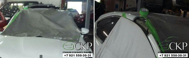 Кузовной ремонт по замене крыши Ситроен DS4