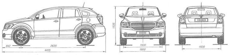 Dodge Caliber габаритные размеры
