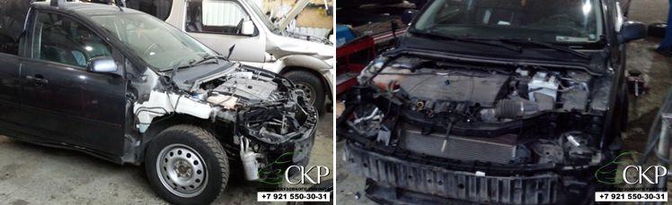 Кузовной ремонт передней части кузова Форд Фокус