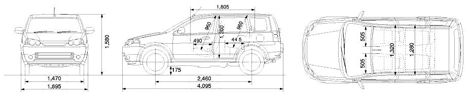 Габаритные размеры Хонда Хр-в (Honda HR-V)