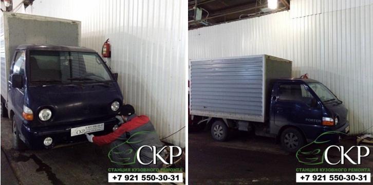 Кузовной ремонт Хендай Портер (Hyundai Porter) в СПб