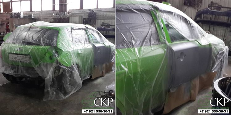 Целиковая покраска кузова Киа Сид