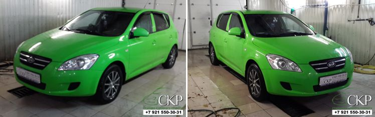 Целиковая покраска кузова Киа Сид (Kia Ceed) в Спб.