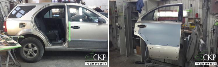 Кузовной ремонт двери Киа Сорренто