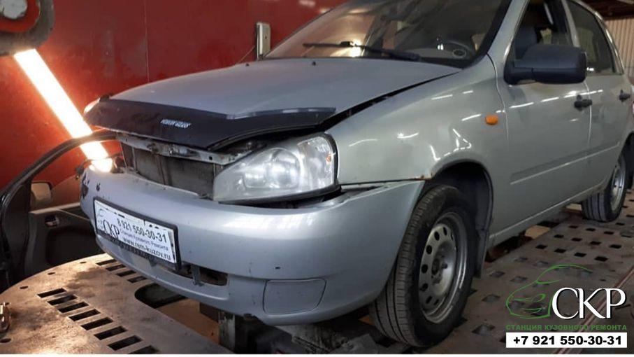 Ремонт передней части кузова Лада Калина в СПб