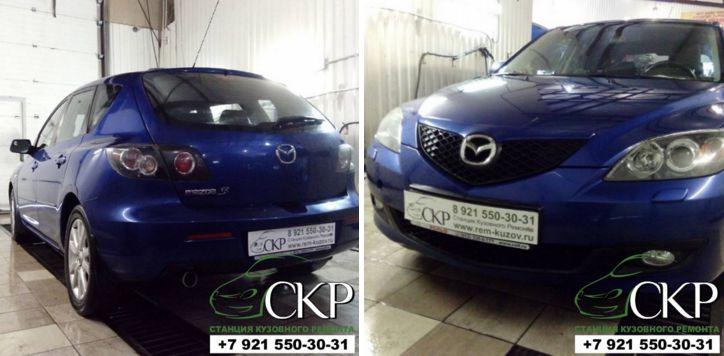 Кузовной ремонт и покраскаМазда 3 (Mazda 3) в СПб