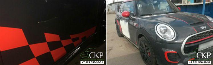 Кузовной ремонт двери Мини Купер в Спб