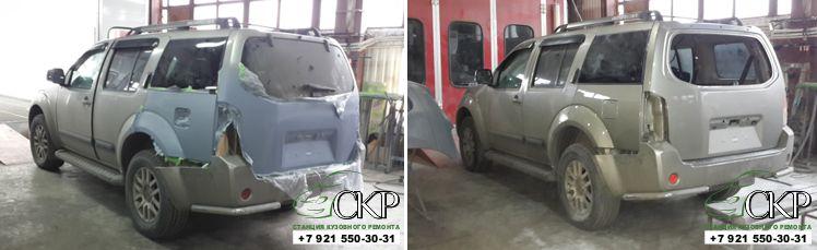 Кузовной ремонт Ниссан Патфайндер (Nissan Pathfinder) в СПб
