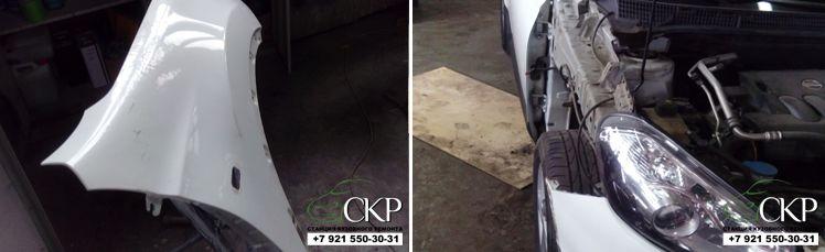 Кузовной ремонт крыла и капота Ниссан Кашкай