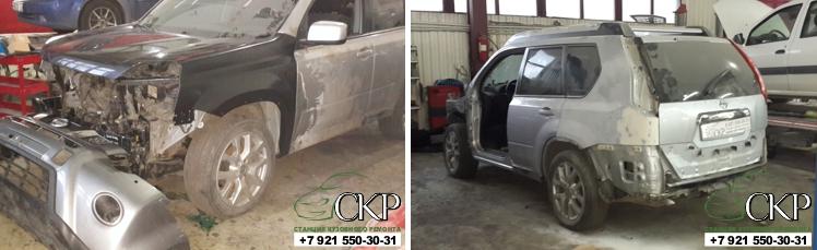 Кузовной ремонт Ниссан Икс Трейл после тяжелого ДТП