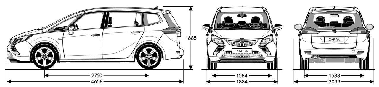 Кузовной ремонт Опель Зафира (Opel Zafira) в Спб.