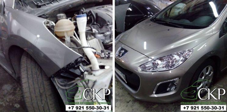 Кузовной ремонт Пежо 308 (Peugeot 308) в СПб