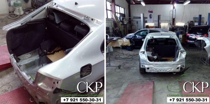 Кузовной ремонт Шкода Рапид