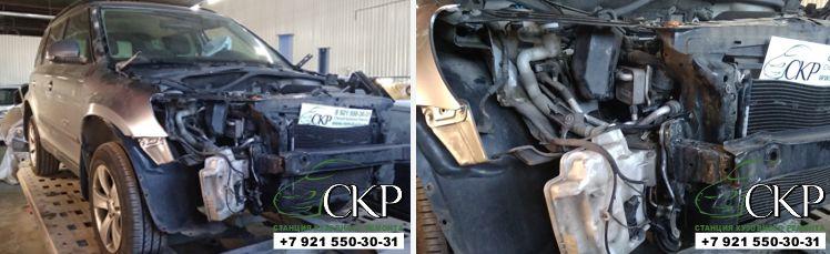 Ремонт кузова передней части Шкода Йети (Skoda Yeti) в СПб
