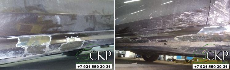 Ремонт кузова передней части Шкода Йети (Skoda Yeti) в СПб от компании СКР