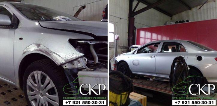 Кузовной ремонт Toyota Corolla (Тойота Королла) в СПб