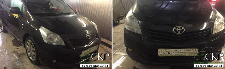 Кузовной ремонт передней части Тойота Королла Версо (Toyota Corolla Verso) в Спб.