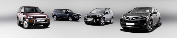 Три поколения авто Toyota RAV4
