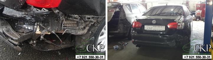 Кузовной ремонт задней части кузова Фольксваген Джетта