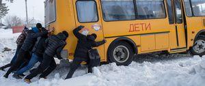 В России запретили возить детей на старых автобусах