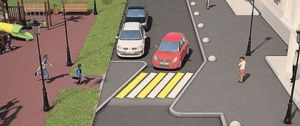 В РФ разрабатывают стандарт по приподнятым пешеходным переходам на дворовых территориях